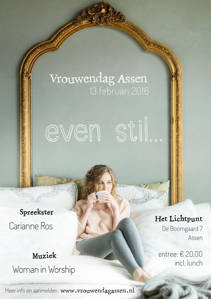 Vrouwendag 2016 Even stil - poster door ninamaakt.nl
